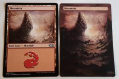 left: basic mountain original; right: extended full art